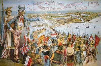 Poster advertising the World's Columbian Exposition